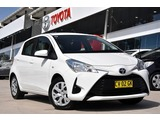 2019  Toyota Yaris Ascent Hatchback (White) Pre-Owned Car Thumbnail